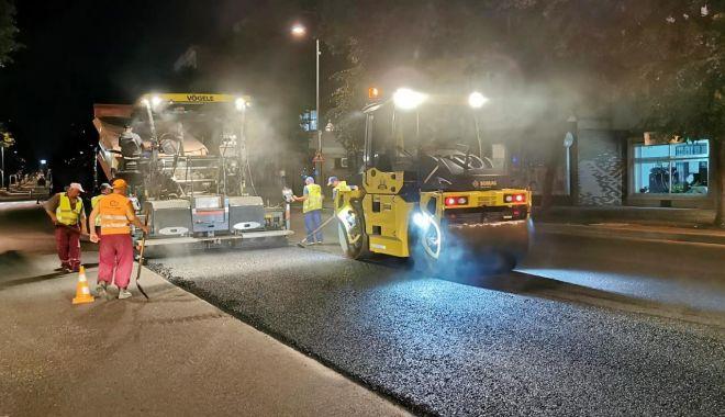 Foto: Restricții parțiale de trafic, la noapte, pe un tronson al bulevardului Tomis