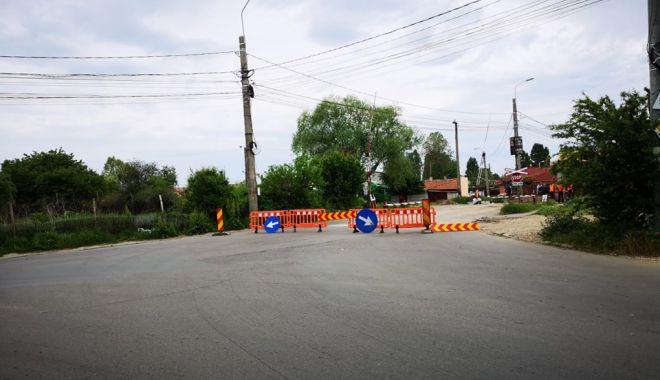 Foto: Trafic rutier restricționat, în zona Halta Traian