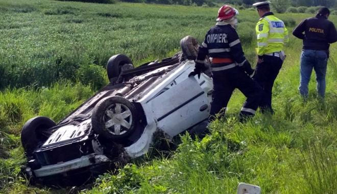 Foto: Tragedie lângă Constanţa. Bărbat decedat, ambii săi copii sunt în stare gravă