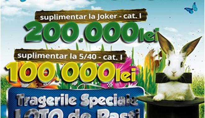 Foto: Şanse duble de câştig la tragerile speciale loto de Paşti