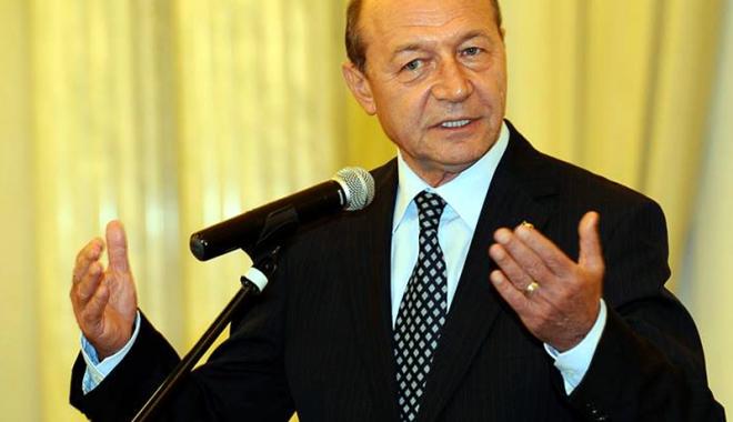 """Foto: Traian Băsescu: """"Pentru DNA, trebuie legea răspunderii magistraţilor"""""""