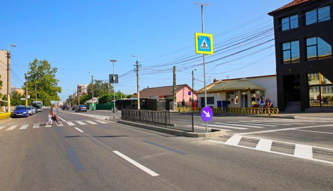 Foto: Lucrări de modernizare a trecerilor de pietoni, din Constanţa