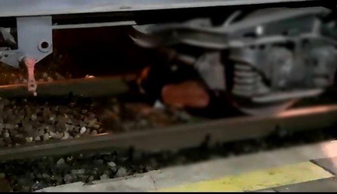 Foto: Tragedie! O persoană a fost tăiată de tren în gara CFR din Murfatlar
