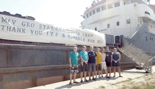 """Foto: Armatorul navei """"Geo Star"""", obligat să plătească salariile. Cum va recupera banii ITF România"""