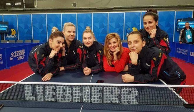 """Foto: Tricolorele  s-au oprit în """"sferturi"""", la Mondialele  de tenis de masă"""
