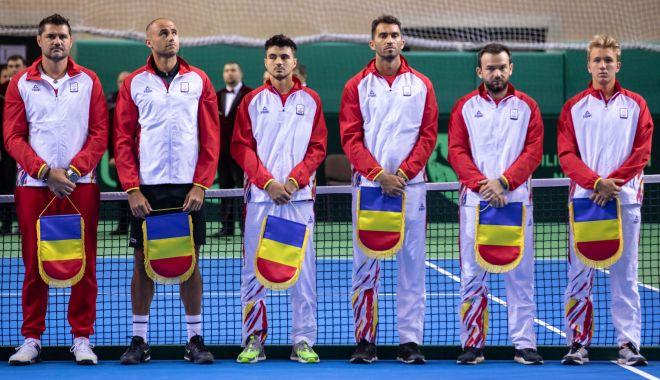 Foto: Tricolorii, victorie previzibilă în Cupa Davis