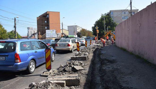 Foto: Trotuarele din Constanța, refăcute