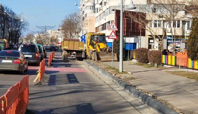 Foto: Trotuarele de pe bulevardul Tomis, refăcute