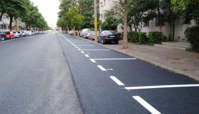Foto: Trotuarele și marcajele rutiere, în atenția Primăriei Constanța
