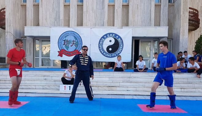 Foto: Tudor Bocai, desemnat sportivul anului la Kung Fu, în România