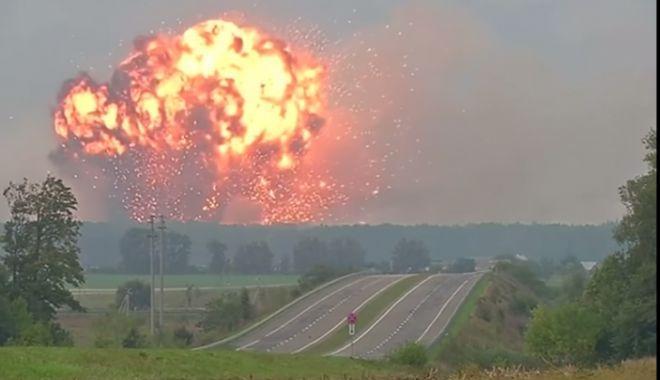 Foto: Explozie puternică la un depozit de muniție!