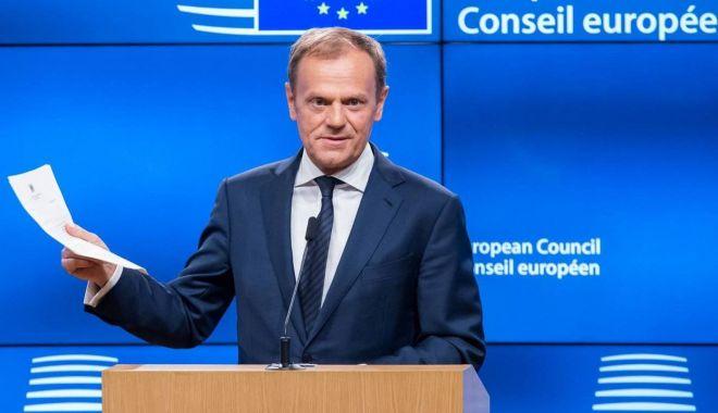 """Foto: Donald Tusk:  """"UE nu trebuie să-i trădeze pe britanicii anti-Brexit"""""""