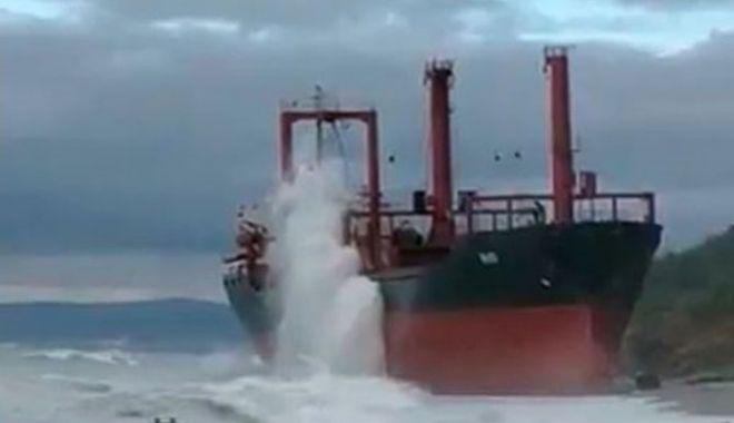 Foto: Un bulk carrier a eșuat în Marea Neagră, la Novorossiysk