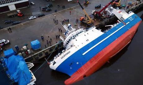 Un cargou a fost aruncat de furtună pe țărm - uncargouafostaruncatdefurtunapet-1617956042.jpg