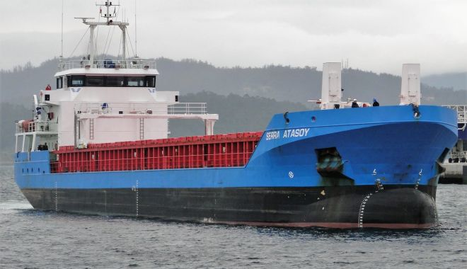 Foto: Un cargou a intrat în black-out, în Marea Baltică