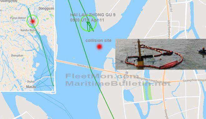 Un cargou s-a scufundat după coliziunea cu un portcontainer - uncargousascufundatdupacoliziune-1618127873.jpg
