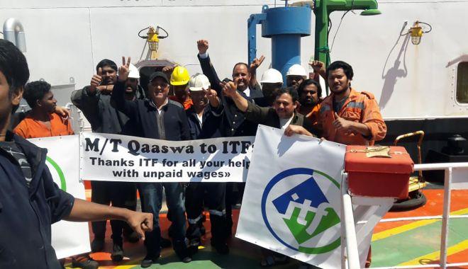 Foto: Un echipaj abandonat a fost repatriat după 13 luni, cu sprijinul ITF