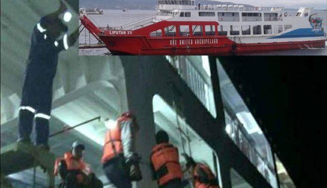Foto: Un ferry-boat a eșuat din cauza vântului puternic