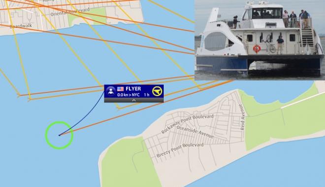 Foto: Un ferry-boat a eșuat lângă New York
