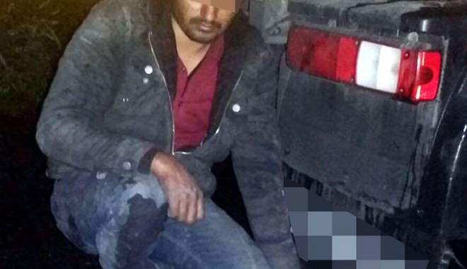 Foto: Imigrant pakistanez,  depistat sub un camion, la PTF Ostrov