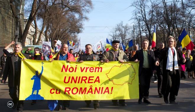 Foto: Manifestări ample la Chişinău  pentru reunirea Moldovei cu România