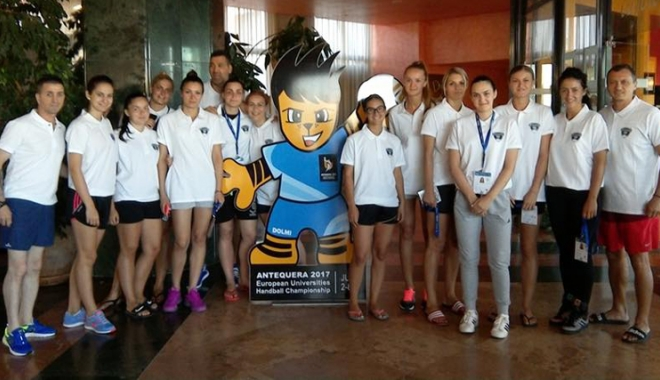 """Foto: Campionatul European Universitar la handbal feminin Universitatea """"Ovidius"""" joacă pentru locurile 5-6"""
