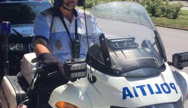 Foto: Un polițist constănțean a ajutat o femeie rănită să ajungă la spital