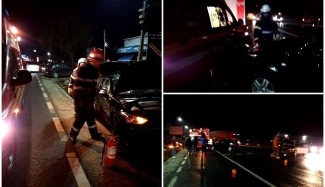 Foto: Pompier lovit de o mașină în timp ce intervenea la un accident