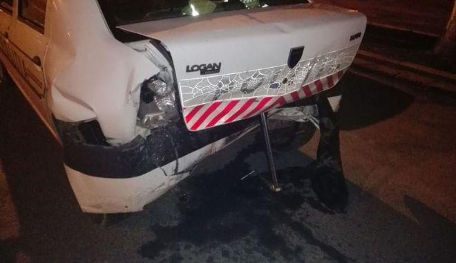 Foto: Un şofer beat  a intrat  în autospeciala  de Poliţie
