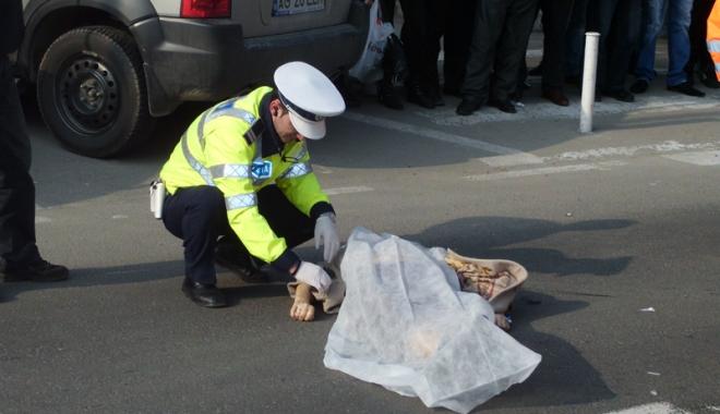 Foto: Un şofer beat şi fără permis a ucis un pieton şi a fugit  de la locul accidentului