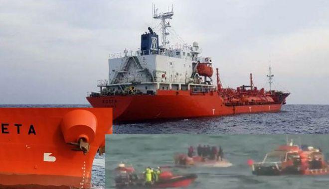 Foto: Un tanc LPG a lovit o navă de pescuit; trei marinari au murit, iar doi au dispărut