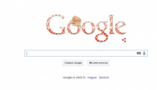 Foto: Cum sărbătoreşte Google Ziua Naţională a României