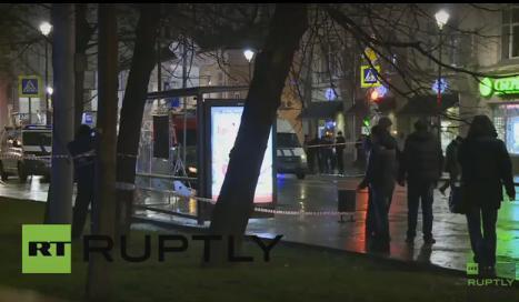 Foto: O bombă a explodat într-o staţie de autobuz!