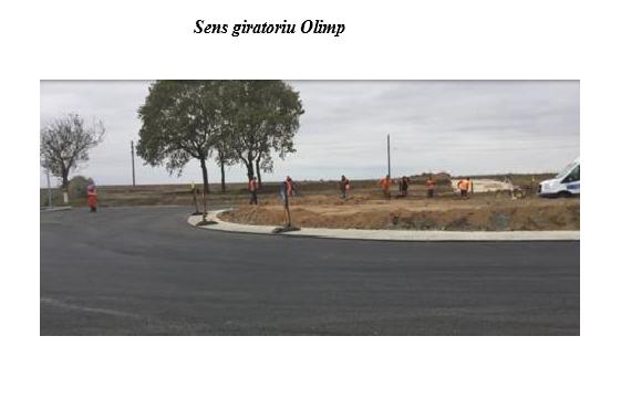 Foto: FOTO. Sens giratoriu �ntre Constan�a �i Mangalia, la intrarea �n Olimp!