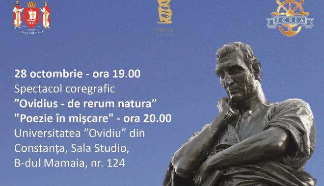 Foto: Spectacol de poezie si coregrafie la sala STUDIO a Universităţii OVIDIUS Constanţa
