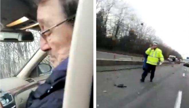 """Foto: Mircea Băsescu, martor la accidentul din Lazu: """"… poate ne ajută miliţienii!"""""""