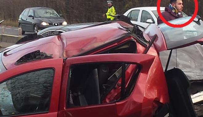 """Foto: TRAGEDIE LAZU / """"Dă-o-n p…a mea"""". Reacţia şocantă a şoferului maşinii Mercedes, despre o victimă"""
