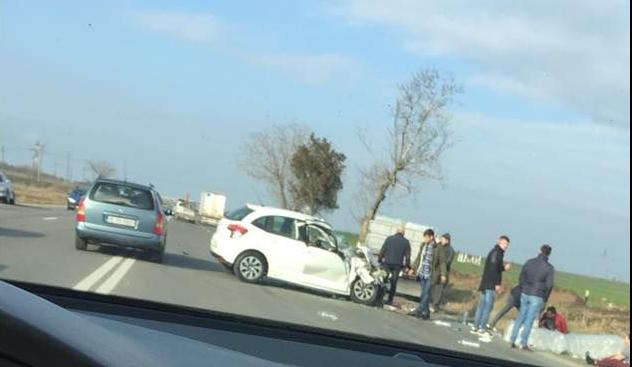 Foto: ACCIDENT RUTIER LA CONSTANŢA, la ieşire din Ovidiu, spre Kogălniceanu
