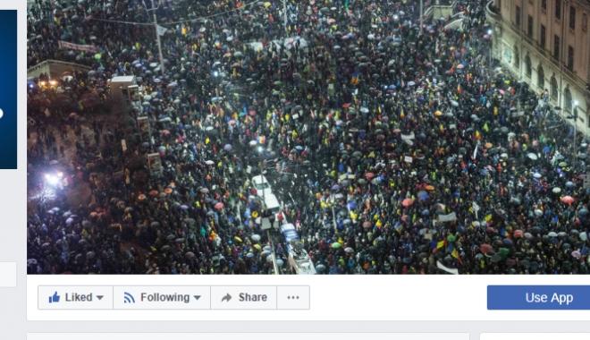 Foto: Euronews, cover pe Facebook o fotografie de la protestele din România