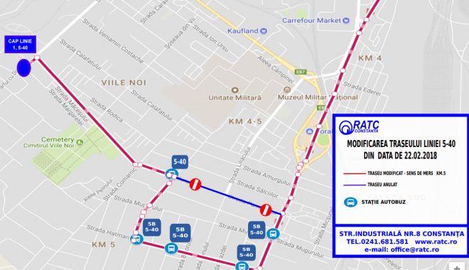 Foto: Atenţie, constănţeni! Autobuzul 5 – 40 circulă deviat astăzi. Vezi aici ce traseu are