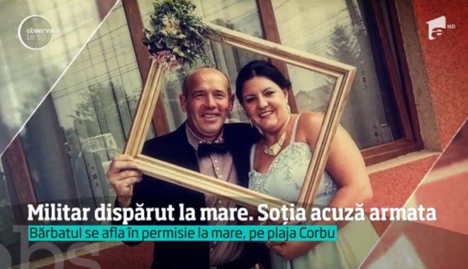 Foto: Soţia militarului dispărut pe plaja din Corbu, acuzaţii cutremurătoare. Femeia e convinsă că bărbatul s-a înecat