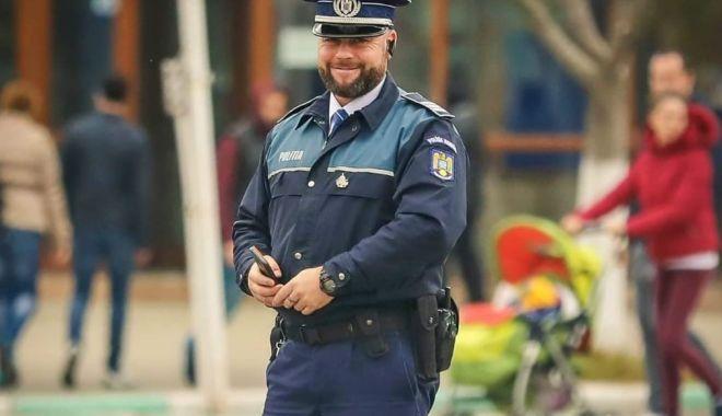 Foto: A lăsat cumpărăturile şi a fugit după un hoţ. Un poliţist din Năvodari, erou în timpul liber