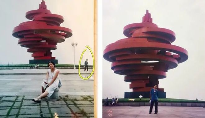 Foto: Un bărbat s-a recunoscut în fotografia soției lui, făcută cu 11 ani înainte să se cunoască