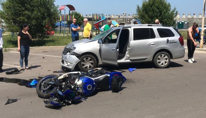 Foto: Accident rutier în Portul Tomis