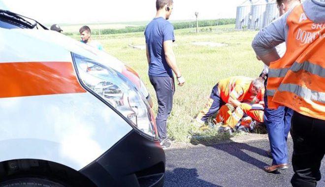 Foto: VIDEO. GRAV ACCIDENT RUTIER LA CONSTANŢA! Şoferul vitezoman nu a respectat semnalizarea temporară