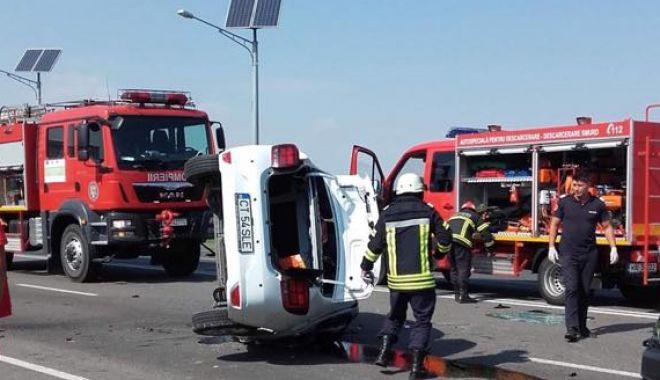 Foto: Trafic blocat la Constanța, din cauza unui accident teribil