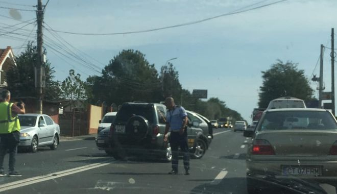 Foto: Accident rutier în Agigea! Sunt cinci victime! UPDATE