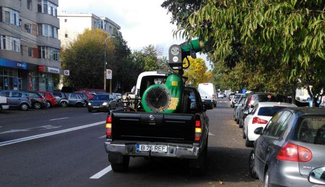 Foto: Pomii din Constanța, stropiți împotriva dăunătorilor
