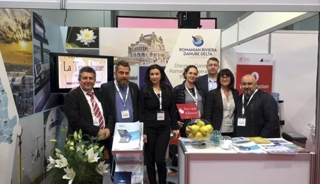 Foto: Litoralul şi aeroportul Constanţa,  prezentate la Târgul  de rute şi companii aeriene Routes