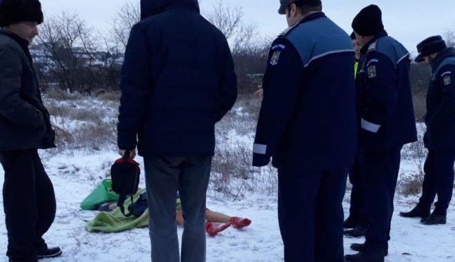 Foto: Descoperire macabră la Medgidia:  Femeie găsită moartă pe malul canalului